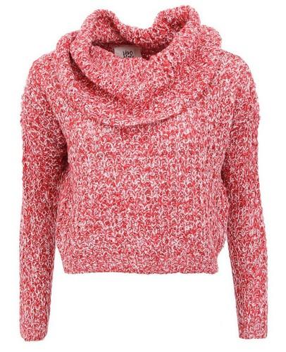 Červený žíhaný kratší svetr Vero Moda Dawn