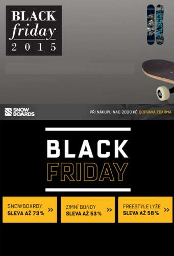 Black friday na Snowboards.cz a Snowbitch.cz